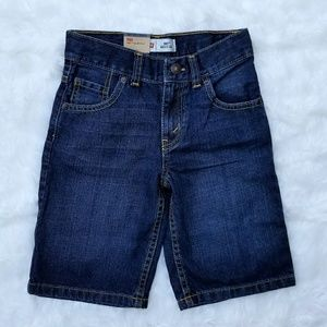 Levi's Boy's Regular Utility Dark Denim Shorts