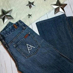 7 for all mankind jeans A Pocket white boot cut