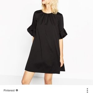 ZARA Jumpsuit dress with frill on sleeves
