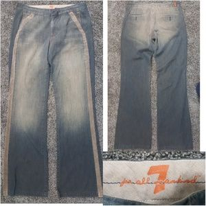 7 For All Man Kind Wide Leg Jeans