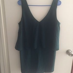 💋💋NWT FOREVER21 EMERALD GREEN LAYERED DRESS