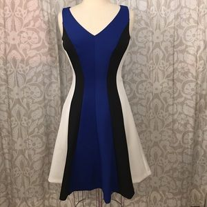 Ralph Lauren scuba Black/blue/white dress