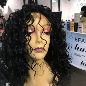 Accessories - Long curly Lacefront New wig PART ANY WAY U WANT