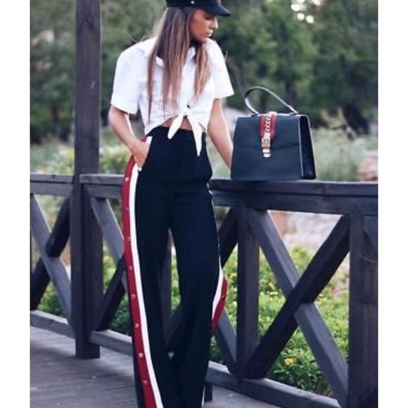 e699a824 Zara Pyjama Style Trousers with Side Stripes NWT