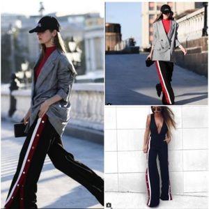 556b64c4 Zara Pants | Pyjama Style Trousers With Side Stripes | Poshmark