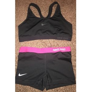 Nike Pro bundle spandex & bra