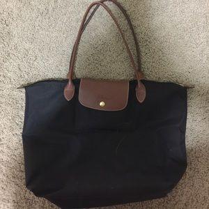 Longchamp large black tote bag