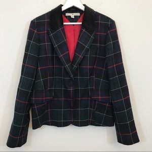 Tommy Hilfiger Tartan Blazer Women's Plaid Size XL