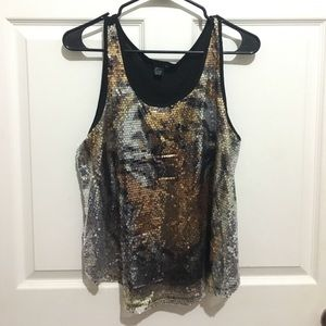 Tiger sequined blouse