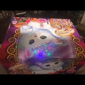 Lisa frank box full of memorabilia & hair products