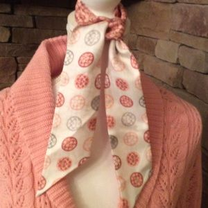 Coach silk scarf reversible