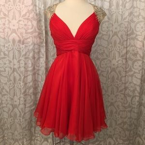 Macduggal sequin red dress