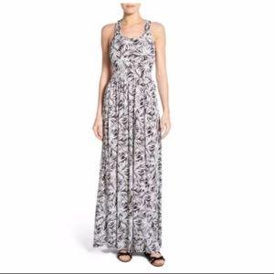MICHAEL KORS Pompano Twist Back White Maxi Dress