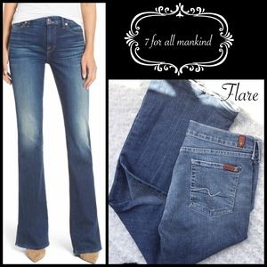 7 for all mankind flare jeans🖤