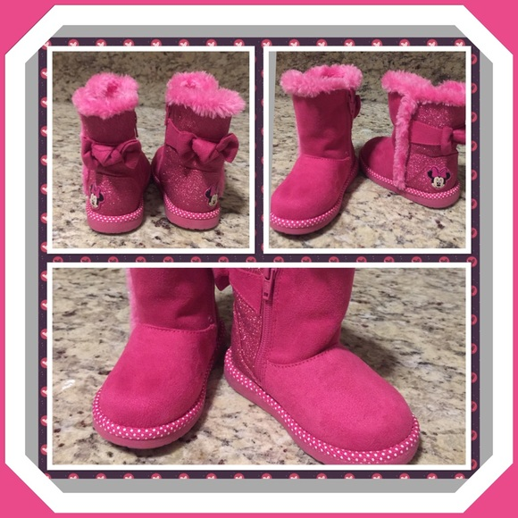 vast selection vivid and great in style value for money Toddler girls Minnie Mouse winter boots sz. 5.5