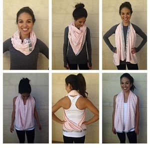 The Pretty Pink Slalom Vinyasa Scarf.