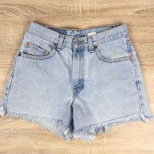 Levis High Waisted Cut Off Shorts 550