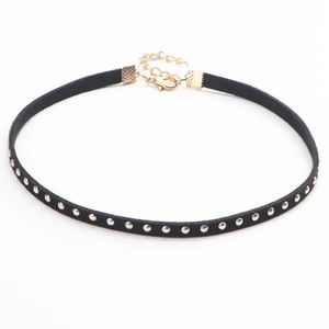 Jewelry - Black suede chocker with silver studs