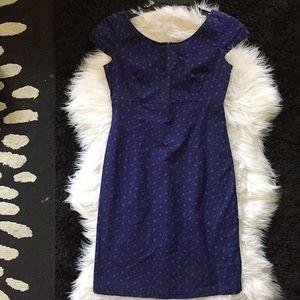 Gap blue floral body mini dress Sz 1 womans