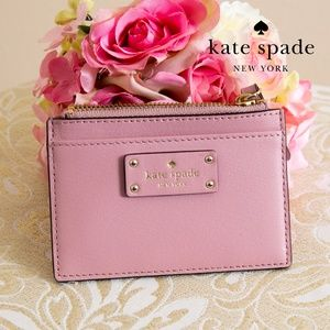 Kate Spade Leather Coin Holder Card Case Wallet