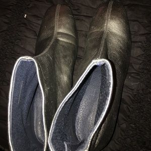 Top shop leather silver boots