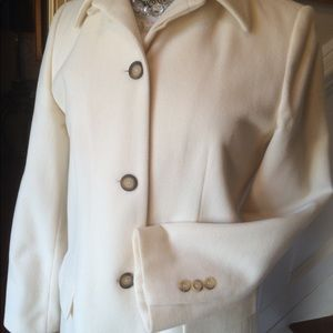 Harve Bernard Winter White Wool Jacket