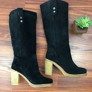 Ugg Josie black suede boots