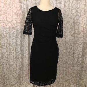 Grayson black mesh bodycon dress