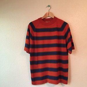 Vintage Donegal burnt orange striped shirt large