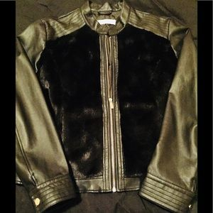 New York and Company Faux Leather/Fur Jacket