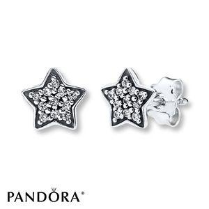 Pandora star earrings