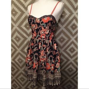 Band Of Gypsies Structured Corset Floral Sundress