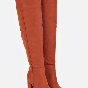 JUSTFAB Albina Rust Over-The-Knee Boots- NWT