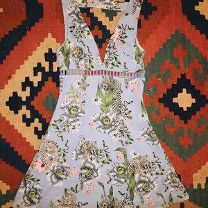 Sky Blue Cheetah Dress