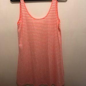 Pink stripped summer dress
