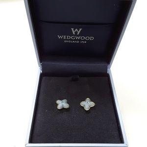 "Wedgwood ""flower "" Blue Earrings"