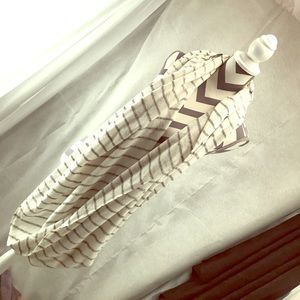 Knit Stripe Cream infinity scarf