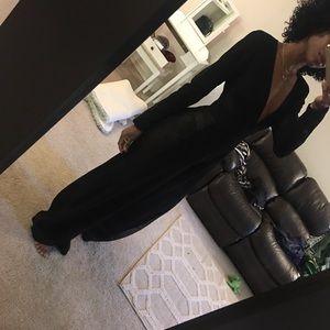 Black sheer Side jumpsuit