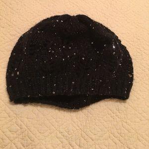 Black poppy, women's hat, one size
