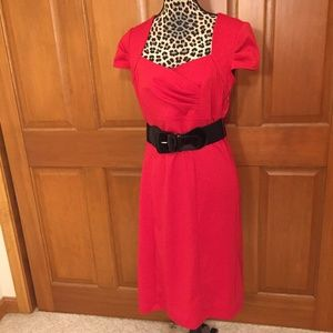 NWOT Maurices Red Pin-up Dress with belt Large