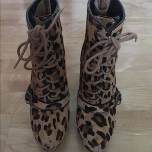 Steve madden leopard pony hair booties
