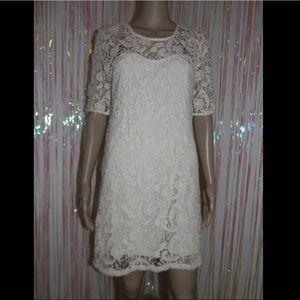 Cream Lace Dress 548