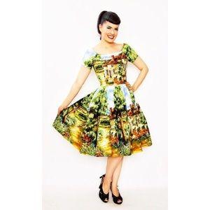 EUC Bernie Dexter Janice Country Cottage Dress