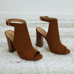 Bamboo High Heels Ankle strap open toes