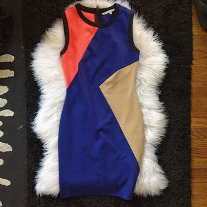 RACHEL ROY color block slimming dress Sz 4 womens