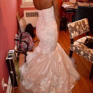 A beautiful white & blush dress