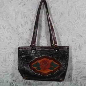 American West Brown Leather Shoulder Bag