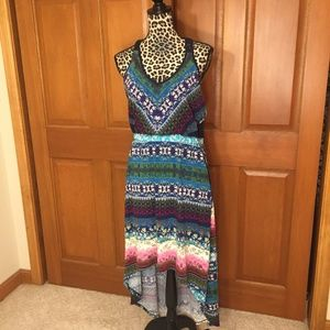 NWT Maurices Muli-color Hi-lo dress Large