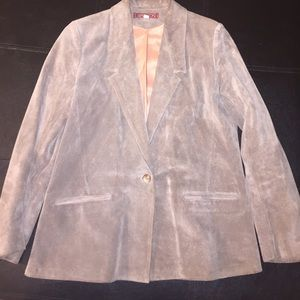Sasson tan leather blazer
