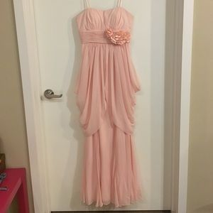 Gorgeous Pink Boutique Strapless Dress - Size 4